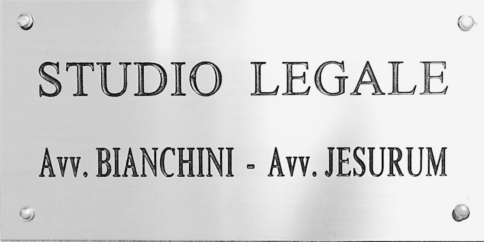 Targa studio legale Bianchini Jesurum
